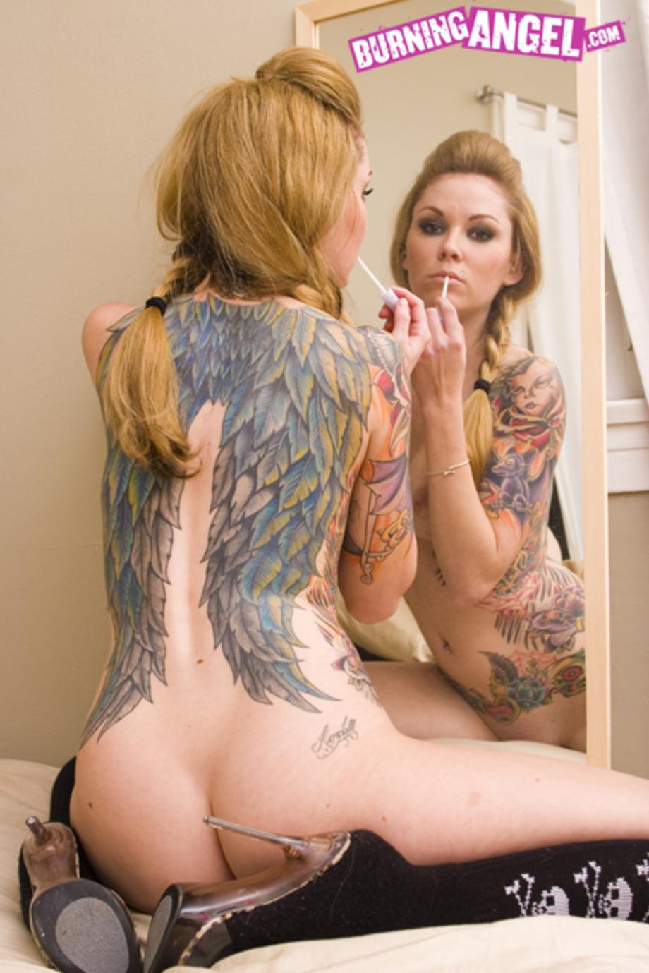 Nude angel tattoo xxx clips